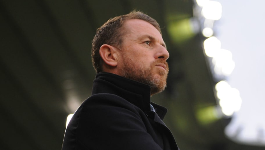 DERBY, ENGLAND - DECEMBER 02: Gary Rowett manager of Derby County looks on during the Sky Bet Championship match between Derby County and Burton Albion at iPro Stadium on December 2, 2017 in Derby, England. (Photo by Nathan Stirk/Getty Images)