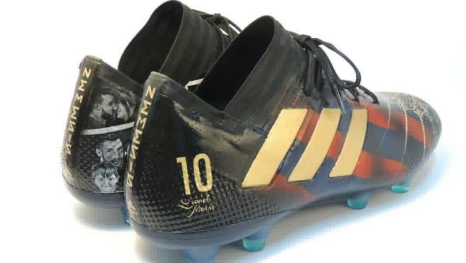 watch e8ba1 73067 PHOTO  Lionel Messi Gets Spectacular Hand-Painted Boots Ahead of Copa Del  Rey Clash