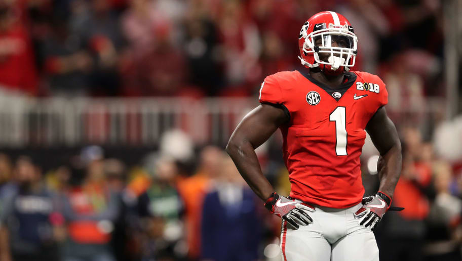 huge selection of b22d5 0ac68 Sony Michel is Passing on His Jersey Number to Nation's No ...