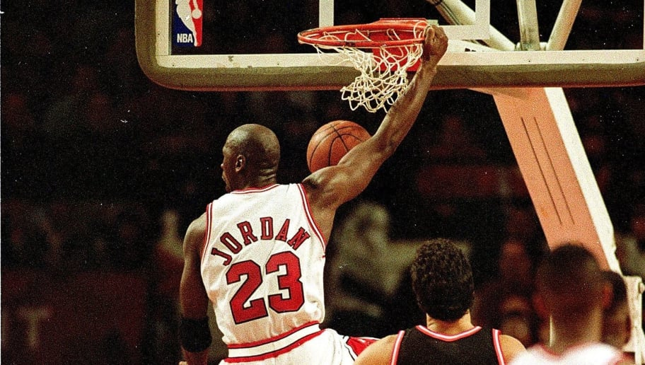 21 Dec 1992:  Michael Jordan #23 of the Chicago Bulls dunks the ball during the game against the Miami Heat .   Mandatory Credit: Jonathan Daniel  /Allsport