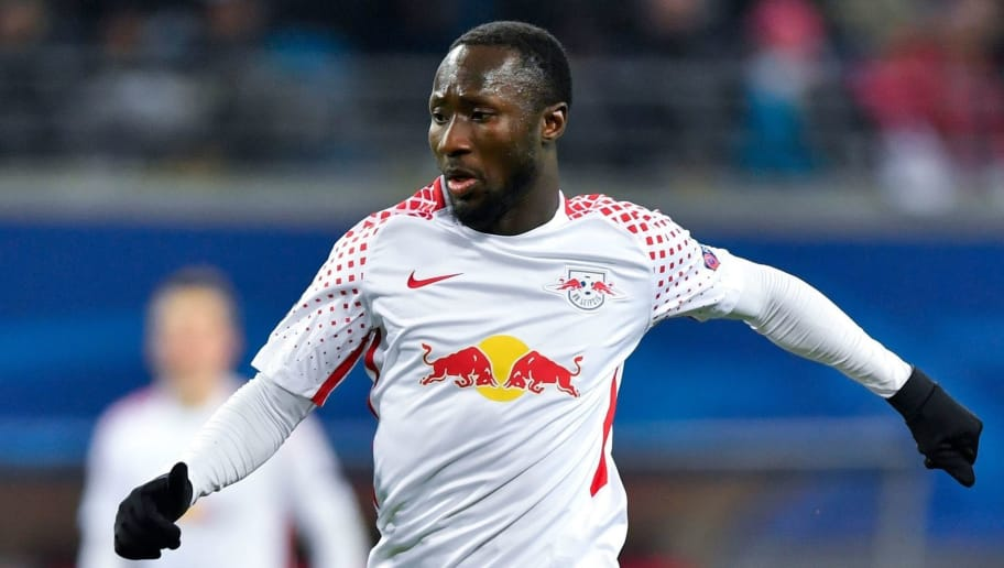 Leipzig's Guinean midfielder Naby Keita runs with the ball during the UEFA Champions League group G football match RB Leipzig vs Besiktas in Leipzig, eastern Germany, on December 6, 2017. / AFP PHOTO / John MACDOUGALL        (Photo credit should read JOHN MACDOUGALL/AFP/Getty Images)