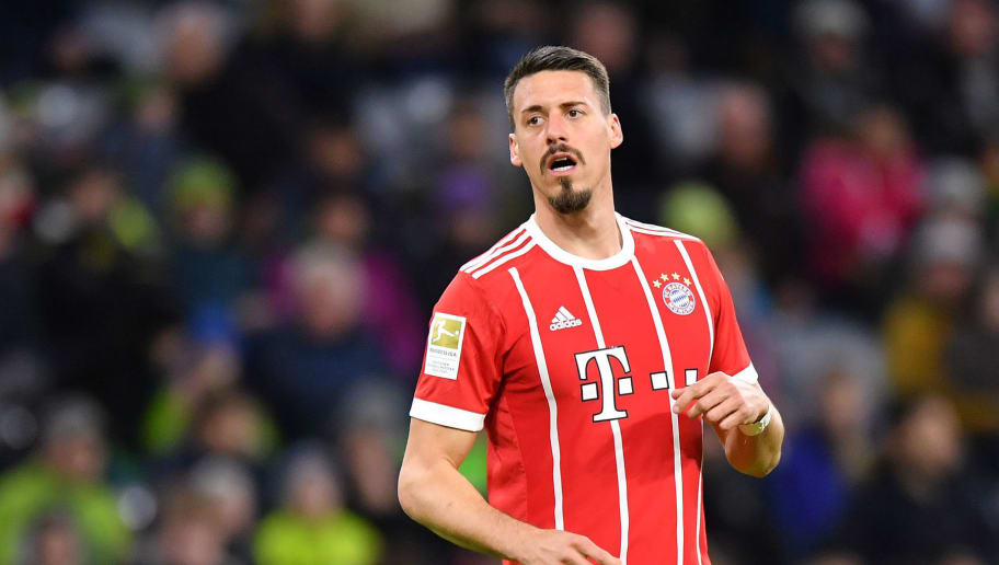 MUNICH, GERMANY - JANUARY 09: Sandro Wagner of Bayern Muenchen looks on during the friendly match between Bayern Muenchen and SG Sonnenhof Grossaspach at Allianz Arena on January 9, 2018 in Munich, Germany. (Photo by Sebastian Widmann/Bongarts/Getty Images)