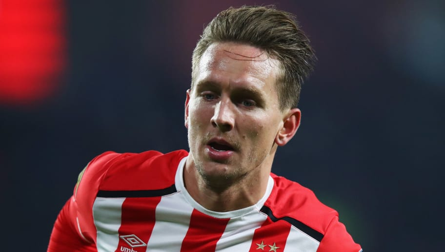 EINDHOVEN, NETHERLANDS - JANUARY 22:  Luuk de Jong of PSV in action during the Dutch Eredivisie match between PSV Eindhoven and SC Heerenveen held at Philips Stadion on January 22, 2017 in Eindhoven, Netherlands.  (Photo by Dean Mouhtaropoulos/Getty Images)