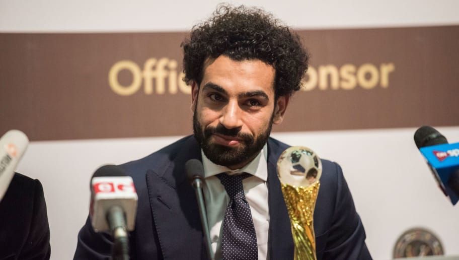 African Footballer of the Year,  Egypt and Liverpool striker Mohammed Salah speaks during a press conference after the CAF awards at the Accra International Press Conference in Accra, on January 4, 2018. / AFP PHOTO / CRISTINA ALDEHUELA        (Photo credit should read CRISTINA ALDEHUELA/AFP/Getty Images)