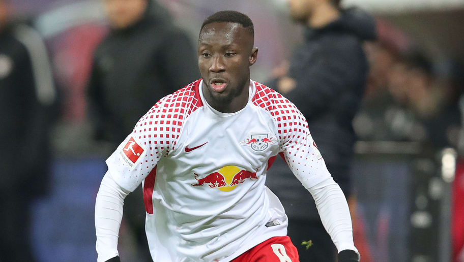 LEIPZIG, GERMANY - JANUARY 13: Naby Keita of Leipzig runs with the ball during the Bundesliga match between RB Leipzig and FC Schalke 04 at Red Bull Arena on January 13, 2018 in Leipzig, Germany. (Photo by Ronny Hartmann/Bongarts/Getty Images)