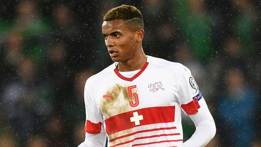 BELFAST, NORTHERN IRELAND - NOVEMBER 09:  Manuel Akanji of Switzerland in action during the FIFA 2018 World Cup Qualifier Play-Off: First Leg between Northern Ireland and Switzerland at Windsor Park on November 9, 2017 in Belfast, Northern Ireland.  (Photo by Michael Regan/Getty Images)