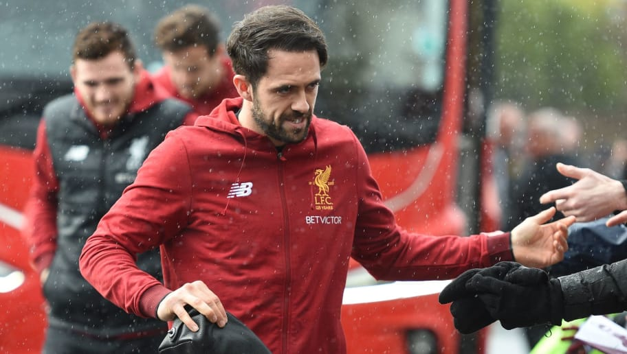 Liverpool's English striker Danny Ings arrives for the English Premier League football match between Burnley and Liverpool at Turf Moor in Burnley, north west England on January 1, 2018. / AFP PHOTO / Oli SCARFF / RESTRICTED TO EDITORIAL USE. No use with unauthorized audio, video, data, fixture lists, club/league logos or 'live' services. Online in-match use limited to 75 images, no video emulation. No use in betting, games or single club/league/player publications.  /         (Photo credit should read OLI SCARFF/AFP/Getty Images)
