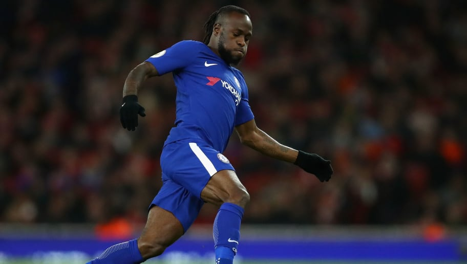 LONDON, ENGLAND - JANUARY 03:  Victor Moses of Chelsea in action during the Premier League match between Arsenal and Chelsea at Emirates Stadium on January 3, 2018 in London, England.  (Photo by Julian Finney/Getty Images)