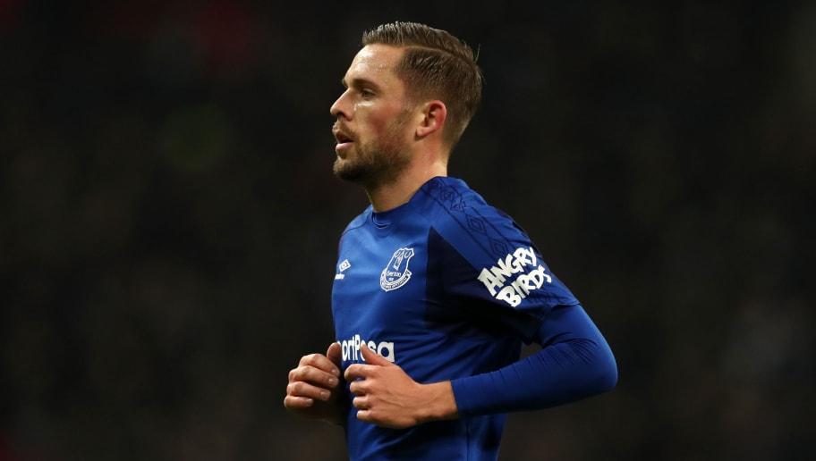 LONDON, ENGLAND - JANUARY 13: Gylfi Sigurdsson of Everton during the Premier League match between Tottenham Hotspur and Everton at Wembley Stadium on January 13, 2018 in London, England. (Photo by Catherine Ivill/Getty Images) |