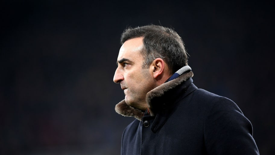 NEWCASTLE UPON TYNE, ENGLAND - JANUARY 13:  Carlos Carvalhal, Manager of Swansea City looks on during the Premier League match between Newcastle United and Swansea City at St. James Park on January 13, 2018 in Newcastle upon Tyne, England.  (Photo by Laurence Griffiths/Getty Images)