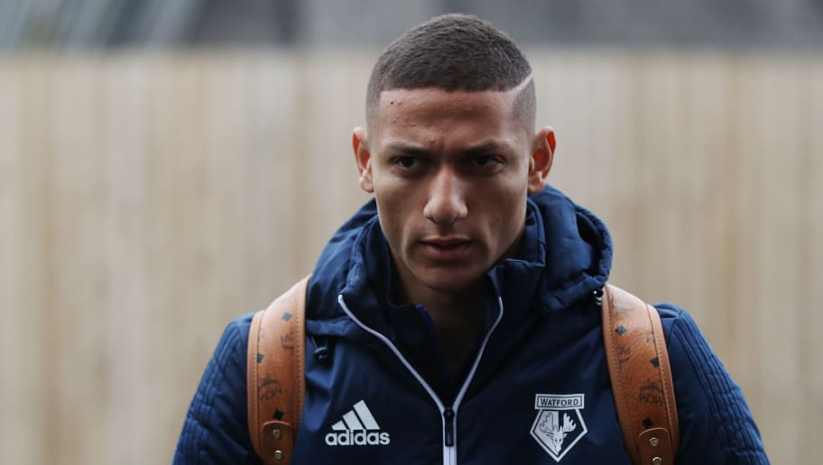 BURNLEY, ENGLAND - DECEMBER 09:  Richarlison de Andrade of Watford arrives at the stadium prior to the Premier League match between Burnley and Watford at Turf Moor on December 9, 2017 in Burnley, England.  (Photo by Matthew Lewis/Getty Images)