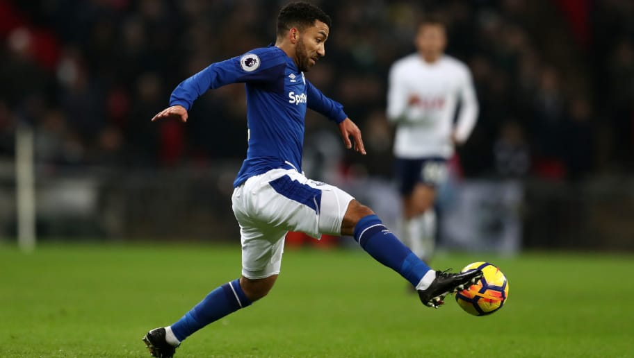 LONDON, ENGLAND - JANUARY 13: Aaron Lennon of Everton during the Premier League match between Tottenham Hotspur and Everton at Wembley Stadium on January 13, 2018 in London, England. (Photo by Catherine Ivill/Getty Images) |