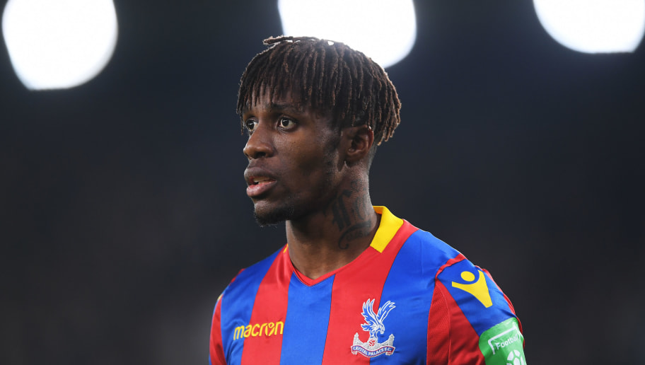 LONDON, ENGLAND - JANUARY 13:  Wilfried Zaha of Crystal Palace looks on during the Premier League match between Crystal Palace and Burnley at Selhurst Park on January 13, 2018 in London, England.  (Photo by Mike Hewitt/Getty Images)