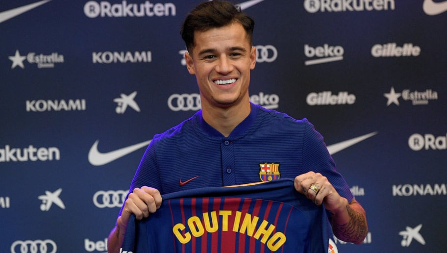 new concept ccd4f 1bbfc Philippe Coutinho to Wear Number 14 Shirt at Barcelona as ...