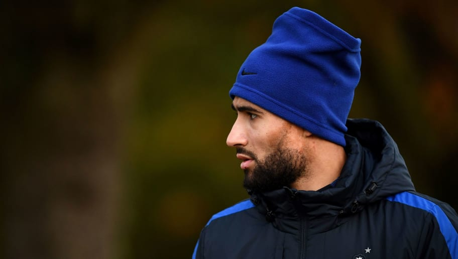 France's national team forward Nabil Fekir arrives for a training session in Clairefontaine-en-Yvelines near Paris on November 6, 2017, as part of the team's preparation ahead of the friendly matches against Wales and Germany. / AFP PHOTO / FRANCK FIFE        (Photo credit should read FRANCK FIFE/AFP/Getty Images)