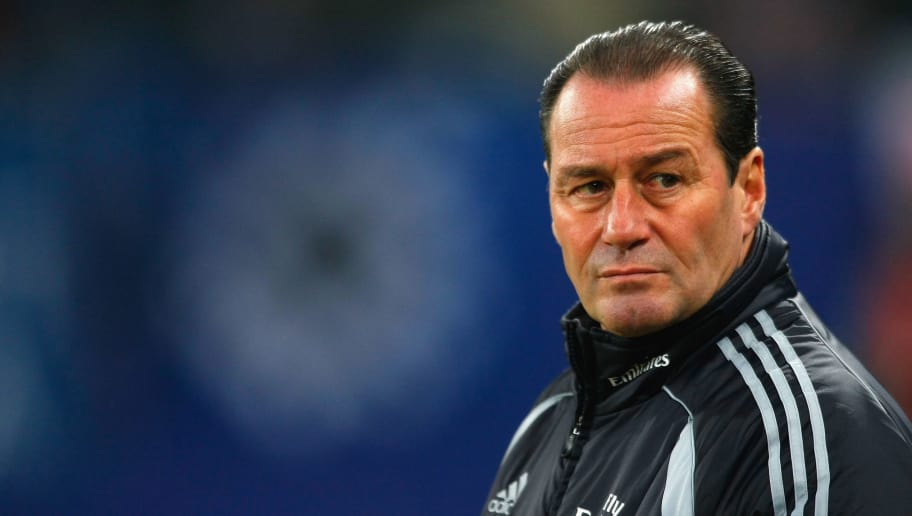 HAMBURG, GERMANY - DECEMBER 20:  Huub Stevens, trainer of Hamburg during the UEFA Cup Group D match between Hamburger SV and Basel at the HSH Nordbank Arena on December 20, 2007 in Hamburg, Germany.  (Photo by Stuart Franklin/Bongarts/Getty Images)