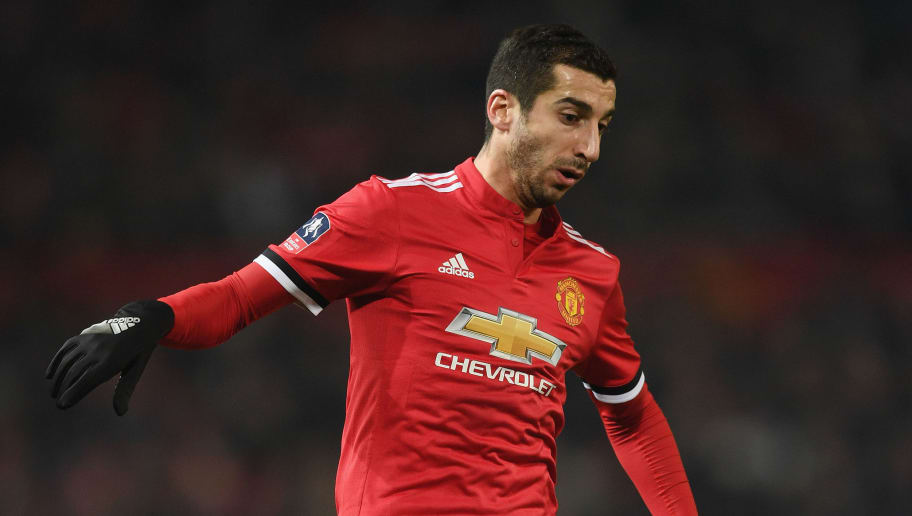 MANCHESTER, ENGLAND - JANUARY 05:  Henrikh Mkhitaryan of Manchester United in action during the FA Cup 3rd round match between Manchester United and derby County at Old Trafford on January 5, 2018 in Manchester, England.  (Photo by Michael Regan/Getty Images)