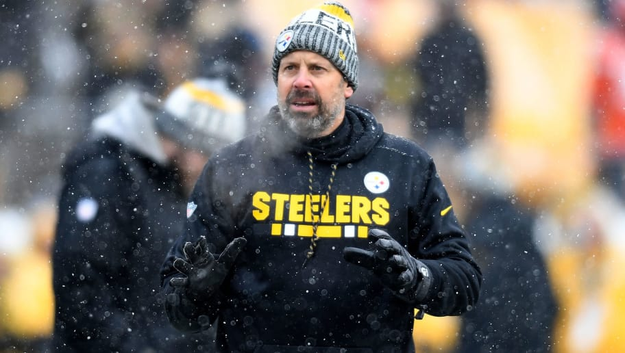 PITTSBURGH, PA - DECEMBER 31: Pittsburgh Steelers offensive coordinator Todd Haley on the field during warmups before the game against the Cleveland Browns at Heinz Field on December 31, 2017 in Pittsburgh, Pennsylvania. (Photo by Joe Sargent/Getty Images)