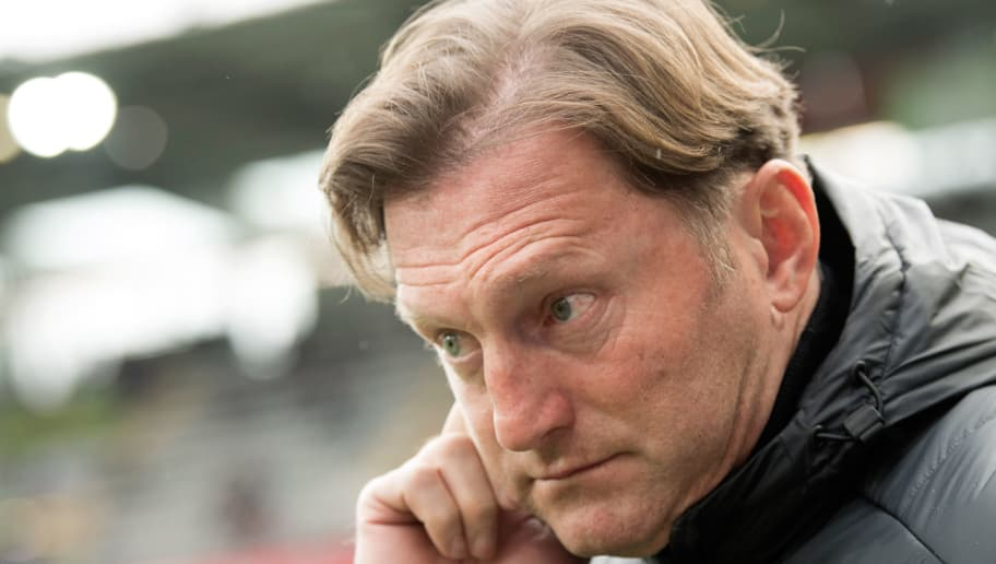 Leipzig's Austrian head coach Ralph Hasenhuettl is pictured prior to the German first division Bundesliga football match SC Freiburg vs RB Leipzig in Freiburg, southwestern Germany, on January 20, 2018. / AFP PHOTO / THOMAS KIENZLE / RESTRICTIONS: DURING MATCH TIME: DFL RULES TO LIMIT THE ONLINE USAGE TO 15 PICTURES PER MATCH AND FORBID IMAGE SEQUENCES TO SIMULATE VIDEO. == RESTRICTED TO EDITORIAL USE == FOR FURTHER QUERIES PLEASE CONTACT DFL DIRECTLY AT + 49 69 650050         (Photo credit should read THOMAS KIENZLE/AFP/Getty Images)