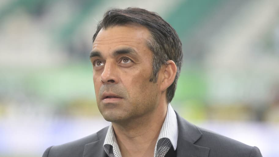 WOLFSBURG, GERMANY - MAY 14:  Robin Dutt, sportding director of VfB Stuttgart, is pictured prior to the Bundesliga match between VfL Wolfsburg and VfB Stuttgart at Volkswagen Arena on May 14, 2016 in Wolfsburg, Germany.  (Photo by Nigel Treblin/Bongarts/Getty Images)