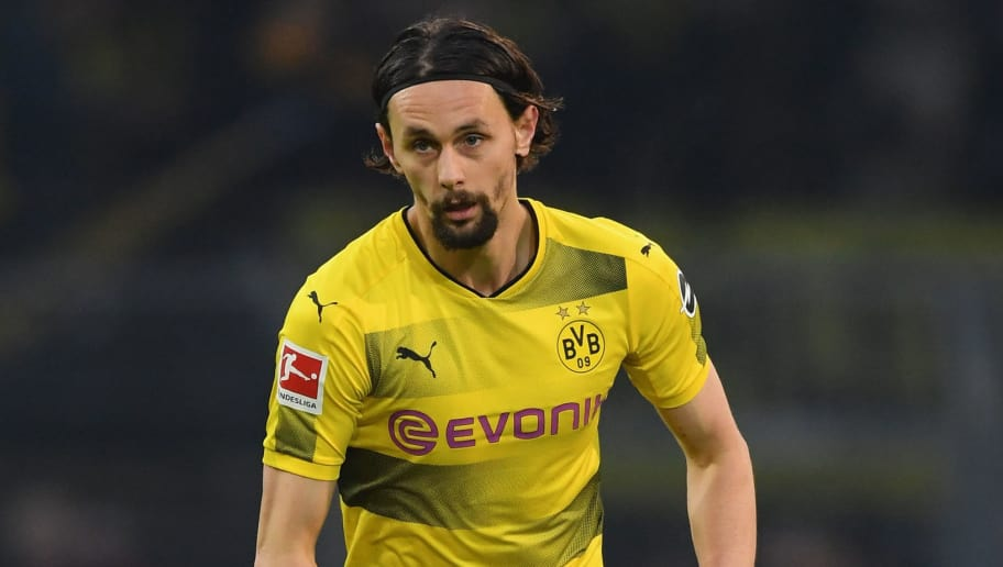 DORTMUND, GERMANY - DECEMBER 09: Neven Subotic of Dortmund in action during the Bundesliga match between Borussia Dortmund and SV Werder Bremen at Signal Iduna Park on December 9, 2017 in Dortmund, Germany.  (Photo by Stuart Franklin/Bongarts/Getty Images )