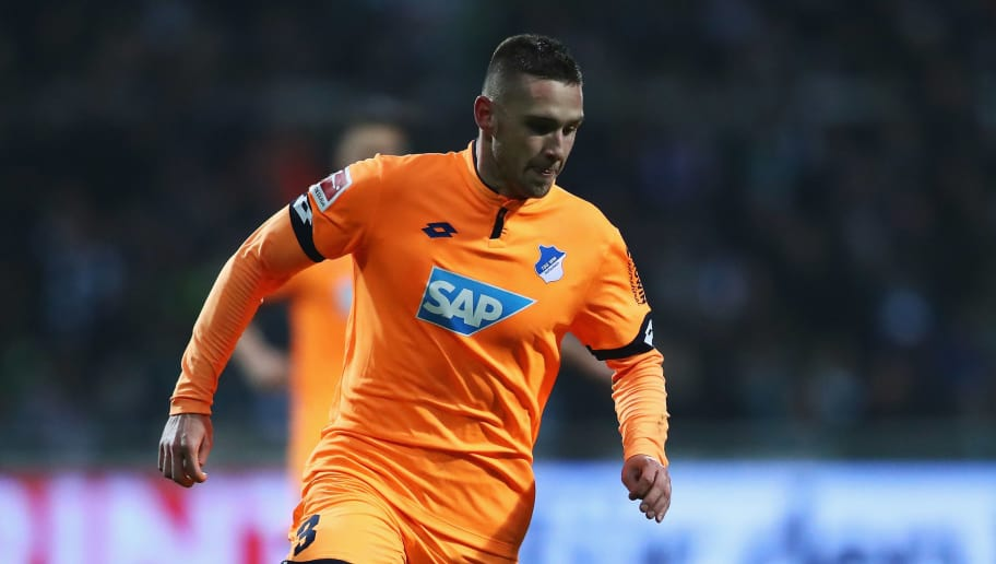 BREMEN, GERMANY - JANUARY 13:  Pavel Kaderabek of TSG 1899 Hoffenheim in action during the Bundesliga match between SV Werder Bremen and TSG 1899 Hoffenheim at Weserstadion on January 13, 2018 in Bremen, Germany.  (Photo by Dean Mouhtaropoulos/Bongarts/Getty Images)