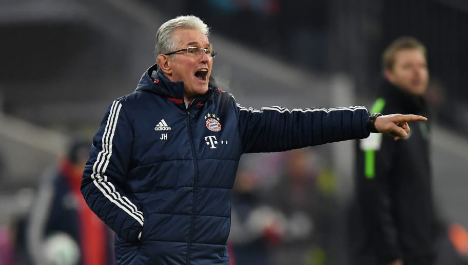 MUNICH, GERMANY - JANUARY 21: Head coach Jupp Heynckes of FC Bayern Muenchen gestures during the Bundesliga match between FC Bayern Muenchen and SV Werder Bremen at Allianz Arena on January 21, 2018 in Munich, Germany. (Photo by Matthias Hangst/Bongarts/Getty Images)