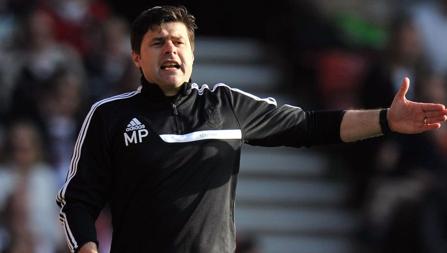 Southampton's Argentinian manager Mauricio Pochettino gestures from the touchline during the English Premier League football match between Southampton and Newcastle United at St Mary's Stadium in Southampton, southern England on March 29, 2014. Southampton won 4-0. AFP PHOTO / GLYN KIRK  RESTRICTED TO EDITORIAL USE. No use with unauthorized audio, video, data, fixture lists, club/league logos or live services. Online in-match use limited to 45 images, no video emulation. No use in betting, games or single club/league/player publications.        (Photo credit should read GLYN KIRK/AFP/Getty Images)