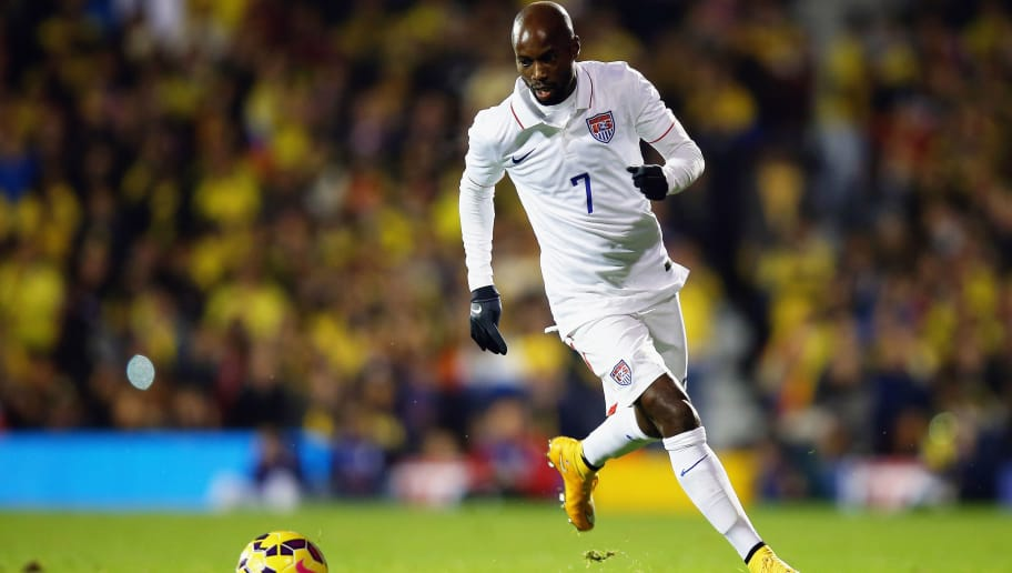 LONDON, ENGLAND - NOVEMBER 14:  DaMarcus Beasley of the USA in action during the International Friendly between the USA and Colombia at Craven Cottage on November 14, 2014 in London, England.  (Photo by Bryn Lennon/Getty Images)