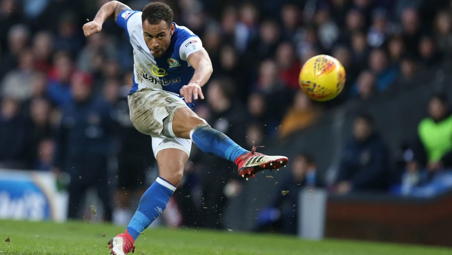 BLACKBURN, ENGLAND - JANUARY 27:  Elliott Bennett of Blackburn Rovers in action during the Sky Bet League One match between Blackburn Rovers and Northampton Town at Ewood Park on January 27, 2018 in Blackburn, England.  (Photo by Pete Norton/Getty Images)
