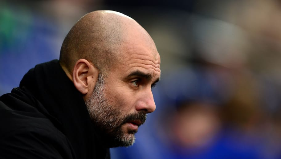 CARDIFF, WALES - JANUARY 28:  Josep Guardiola, Manager of Manchester City looks on prior to The Emirates FA Cup Fourth Round between Cardiff City and Manchester City on January 28, 2018 in Cardiff, United Kingdom.  (Photo by Harry Trump/Getty Images)