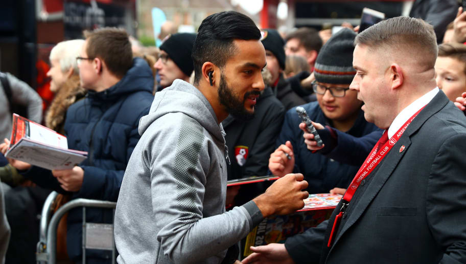 BOURNEMOUTH, ENGLAND - JANUARY 14:  Theo Walcott of Arsenal arrives at the stadium prior to the Premier League match between AFC Bournemouth and Arsenal at Vitality Stadium on January 14, 2018 in Bournemouth, England.  (Photo by Clive Rose/Getty Images)