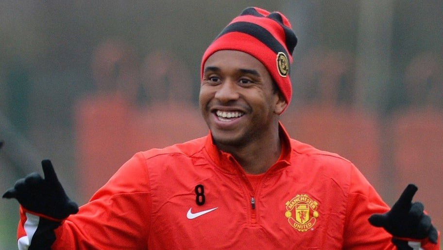 Manchester United's Brazilian midfielder Anderson takes part in a training session in Manchester, northwest England, on November 26, 2013, ahead of the team's UEFA Champions League football match against Bayer Leverkusen. AFP PHOTO/PAUL ELLIS        (Photo credit should read PAUL ELLIS/AFP/Getty Images)