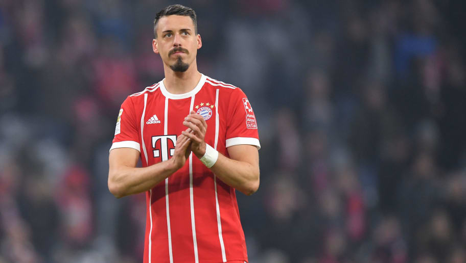 MUNICH, GERMANY - JANUARY 27: Sandro Wagner of Muenchen looks on after the Bundesliga match between FC Bayern Muenchen and TSG 1899 Hoffenheim at Allianz Arena on January 27, 2018 in Munich, Germany. (Photo by Sebastian Widmann/Bongarts/Getty Images)