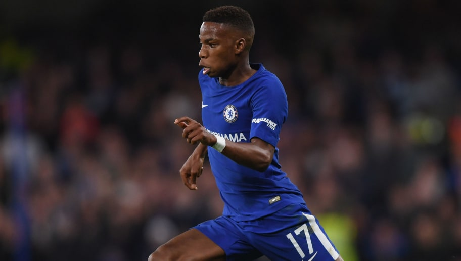 LONDON, ENGLAND - OCTOBER 25:  Charly Musonda Jr of Chelsea runs with the ball during the Carabao Cup Fourth Round match between Chelsea and Everton at Stamford Bridge on October 25, 2017 in London, England.  (Photo by Shaun Botterill/Getty Images)