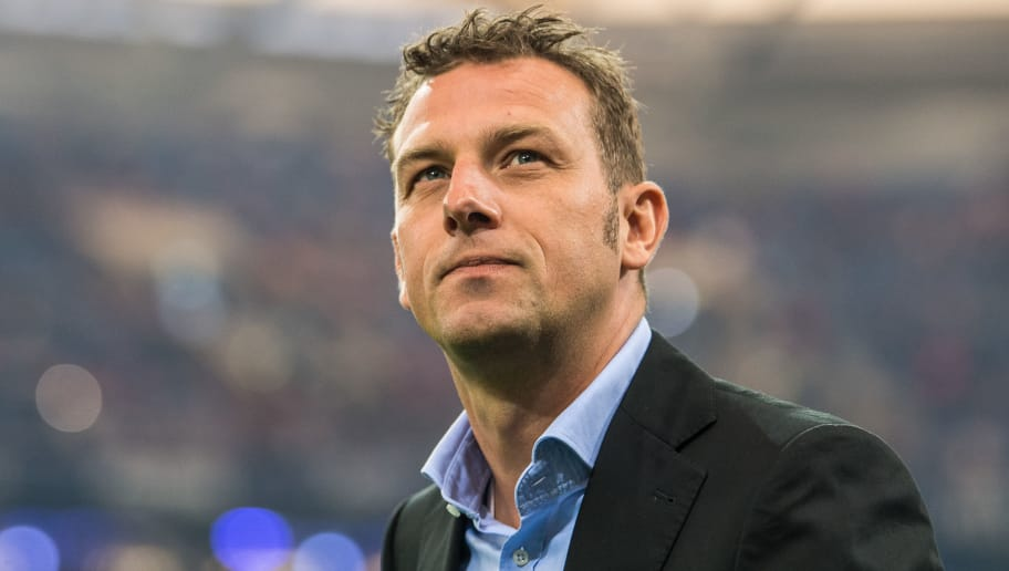GELSENKIRCHEN, GERMANY - MAY 13: Head Coach Markus Weinzierl of Schalke arrives  prior to the Bundesliga match between FC Schalke 04 and Hamburger SV at Veltins-Arena on May 13, 2017 in Gelsenkirchen, Germany. (Photo by Lukas Schulze/Bongarts/Getty Images)