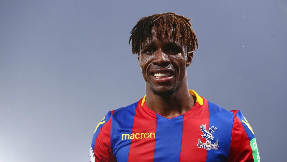LONDON, ENGLAND - NOVEMBER 18:  Wilfried Zaha of Crystal Palace celebrates scoring his side's second goal during the Premier League match between Crystal Palace and Everton at Selhurst Park on November 18, 2017 in London, England.  (Photo by Jordan Mansfield/Getty Images)
