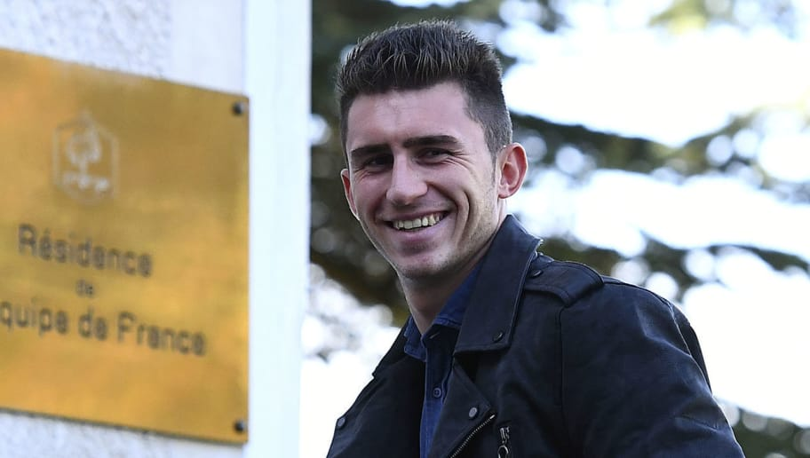 France's defender Aymeric Laporte arrives at the French national football team training base in Clairefontaine on October 3, 2016  near Paris, as part of the team's preparation for the upcoming World Cup 2018 qualifiers.  / AFP / FRANCK FIFE        (Photo credit should read FRANCK FIFE/AFP/Getty Images)