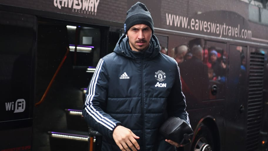 WEST BROMWICH, ENGLAND - DECEMBER 17:  Zlatan Ibrahimovic of Manchester United arrives for the Premier League match between West Bromwich Albion and Manchester United at The Hawthorns on December 17, 2017 in West Bromwich, England.  (Photo by Michael Regan/Getty Images)