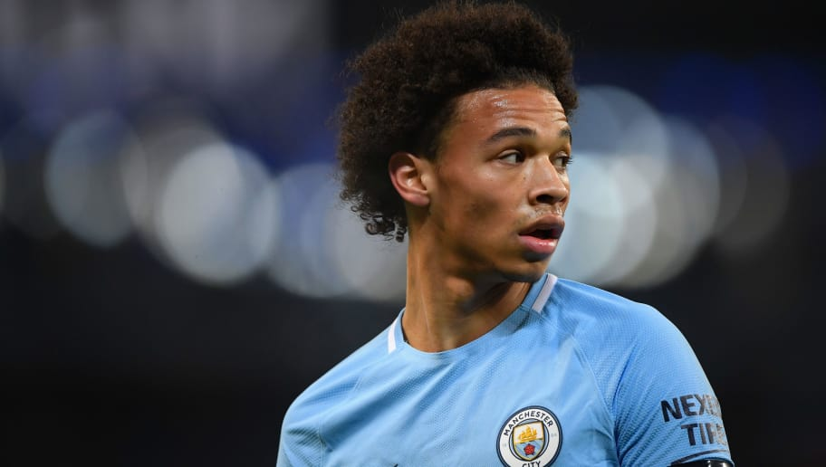 MANCHESTER, ENGLAND - JANUARY 20:  City player Leroy Sane looks on during the Premier League match between Manchester City and Newcastle United at Etihad Stadium on January 20, 2018 in Manchester, England.  (Photo by Stu Forster/Getty Images)