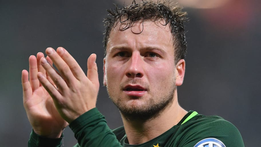 BREMEN, GERMANY - DECEMBER 20:  Philipp Bargfrede of Bremen celebrates at the final whistle during the DFB Cup match between Werder Bremen and SC Freiburg at Weserstadion on December 20, 2017 in Bremen, Germany.  (Photo by Stuart Franklin/Bongarts/Getty Images)