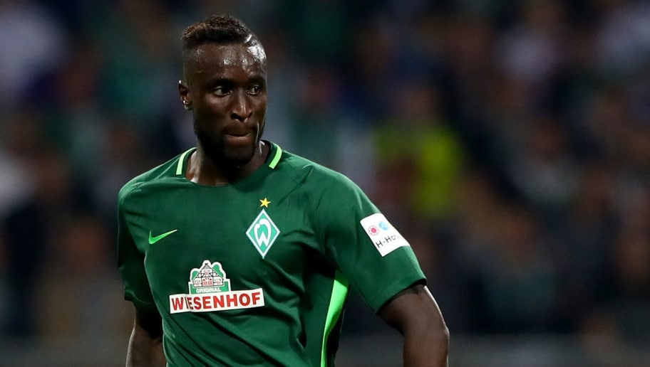 BREMEN, GERMANY - OCTOBER 15: Lamine Sane of Bremen runs with the ball during the Bundesliga match between SV Werder Bremen and Borussia Moenchengladbach at Weserstadion on October 15, 2017 in Bremen, Germany.  (Photo by Martin Rose/Bongarts/Getty Images)