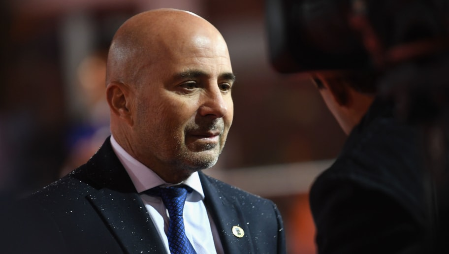 MOSCOW, RUSSIA - DECEMBER 01:  Jorge Sampaoli, Manager of Argentina arrives for the Final Draw for the 2018 FIFA World Cup Russia at the State Kremlin Palace on December 1, 2017 in Moscow, Russia.  (Photo by Matthias Hangst/Bongarts/Getty Images)