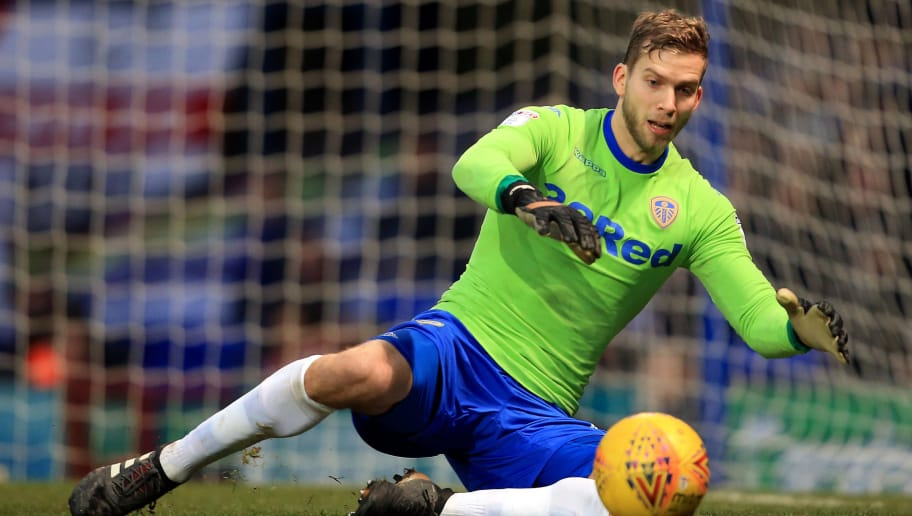 IPSWICH, ENGLAND - JANUARY 13:  Felix Wiedwald of Leeds United during the Sky Bet Championship match between Ipswich Town and Leeds United at Portman Road on January 13, 2018 in Ipswich, England. (Photo by Stephen Pond/Getty Images)