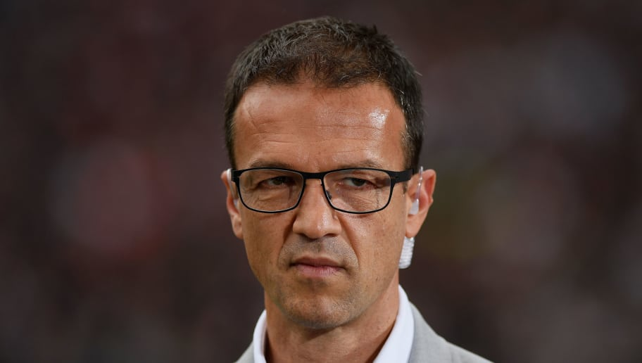 FRANKFURT AM MAIN, GERMANY - SEPTEMBER 30: Fredi Bobic, CEO of Frankfurt looks on prior to the Bundesliga match between Eintracht Frankfurt and VfB Stuttgart at Commerzbank-Arena on September 30, 2017 in Frankfurt am Main, Germany. (Photo by Matthias Hangst/Bongarts/Getty Images)