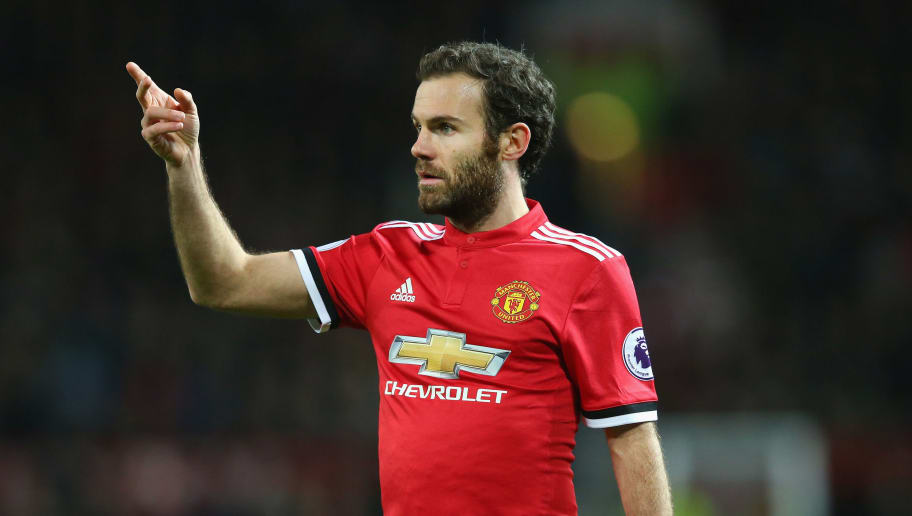 MANCHESTER, ENGLAND - DECEMBER 30:  Juan Mata of Manchester United during the Premier League match between Manchester United and Southampton at Old Trafford on December 30, 2017 in Manchester, England.  (Photo by Alex Livesey/Getty Images)