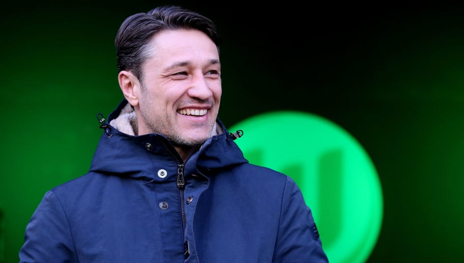 WOLFSBURG, GERMANY - JANUARY 20: Head coach Nico Kovac of Frankfurt enters the pitch prior to the Bundesliga match between VfL Wolfsburg and Eintracht Frankfurt at Volkswagen Arena on January 20, 2018 in Wolfsburg, Germany. (Photo by Ronny Hartmann/Bongarts/Getty Images)