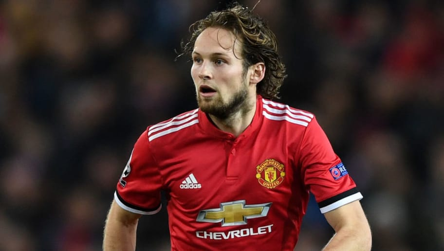 Daley Blind of Manchester United during the UEFA Champions League group A match between Manchester United and CSKA Moskva at Old Trafford on December 5, 2017 in Manchester, United Kingdom.  (Photo by Gareth Copley/Getty Images)