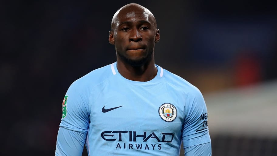 LEICESTER, ENGLAND - DECEMBER 19: Eliaquim Mangala of Manchester City during the Carabao Cup Quarter-Final match between Leicester City and Manchester City at The King Power Stadium on December 19, 2017 in Leicester, England. (Photo by Catherine Ivill/Getty Images)