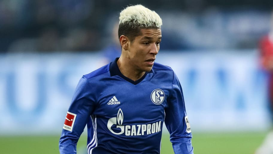 GELSENKIRCHEN, GERMANY - JANUARY 21: Amine Harit of Schalke controls the ball during the Bundesliga match between FC Schalke 04 and Hannover 96 at Veltins-Arena on January 21, 2018 in Gelsenkirchen, Germany. (Photo by Maja Hitij/Bongarts/Getty Images)